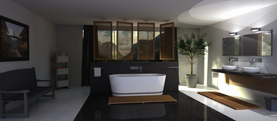 tarima de madera en baños